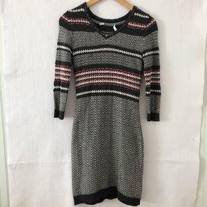Maurices Fair Isle Inspired Sweater Dress Small